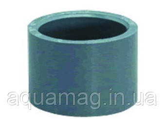 Муфта ПВХ редукционная клеевая 40х32 мм, серая, фото 2
