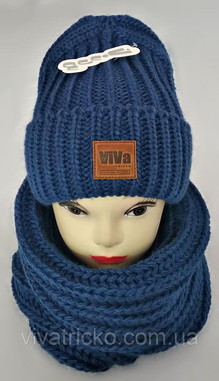 М 5031 Комплект жіночий-підлітковий  шапка+баф, марс, розмір вільний