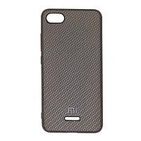 Чехол для Xiaomi Redmi 6a Carbon Silicone Cover Black
