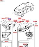 Фонарь задний левый на крышке багажника киа Спортейдж 4, KIA Sportage 2016-18 QL, 92405f1000, фото 4