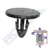 Клипса обшивки багажника (крепления шумоизоляции капота) Logan/MCV/Sandero Romix 10551