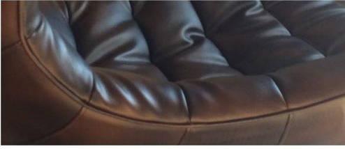 Кресло Ретро, экокожа, нержавеющая сталь, поворачивается, цвет черный, фото 3