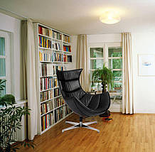 Кресло Ретро, экокожа, нержавеющая сталь, поворачивается, цвет черный, фото 2