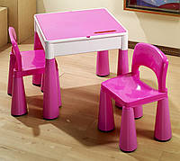 Tega Baby Mammut Стіл+2 стільчики Комплект дитячих  меблів Розовий Pink