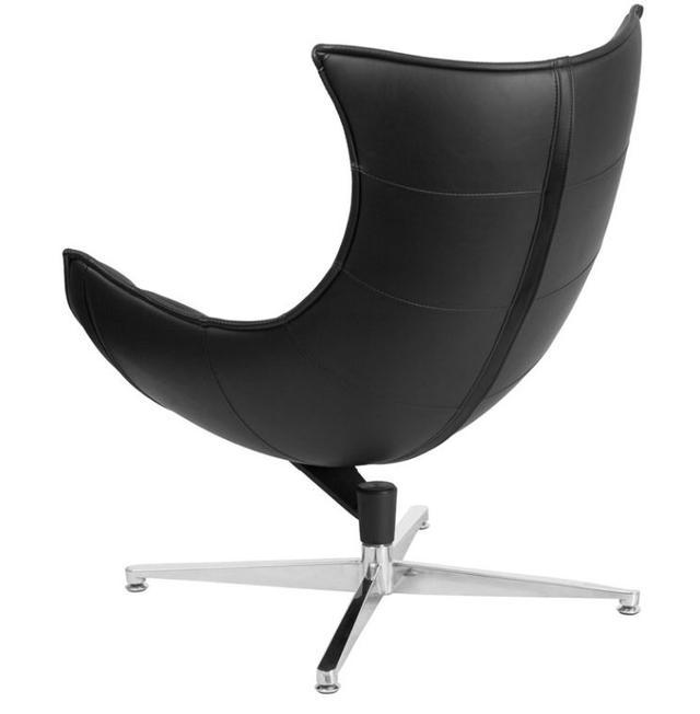 Кресло Ретро, экокожа, нержавеющая сталь, поворачивается, цвет черный (3)