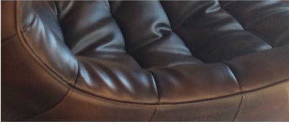 Кресло Ретро, экокожа, нержавеющая сталь, поворачивается, цвет черный (5)