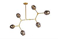 Люстра молекула в стиле ЛОФТ 6 ламп, 756LPR0231-6 GD+BK, золото, фото 1