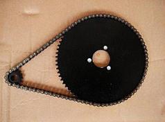 Комплект для детского квадроцикла: цепь и две металлические звездочки (маленькая и большая)