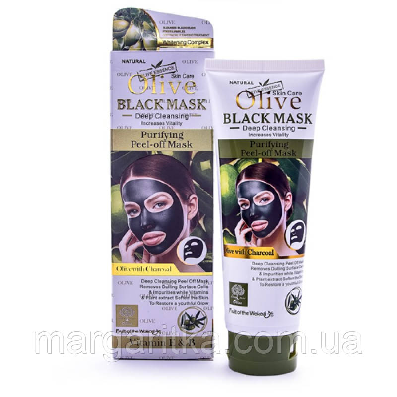 Черная маска для лица Wokali Olive Black Mask