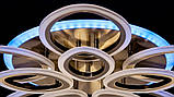 Яркая светодиодная люстра A3010/5+5BR LED dimmer, фото 5