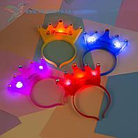 """Детский светящийся обруч на голову """"Принцесса"""" 4 цвета, фото 2"""