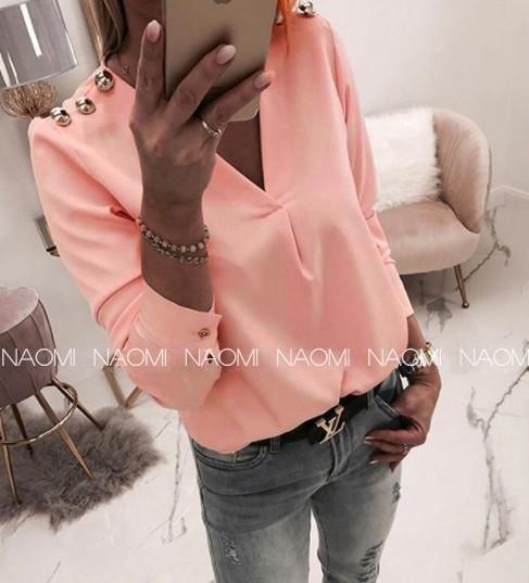 Блуза женская персик 2 расцветки