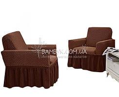 Vip чохол для крісла з оборкою великого розміру Altinkoza стільники (натяжна) гарячий шоколад