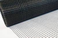 Сетка пластиковая 0.5м х100м (ячейка 12*14мм) чёрная