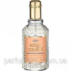 Maurer & Wirtz 4711 Acqua A Colonia White Peach & Ciriander (50мл), Unisex Одеколон  - Оригинал!