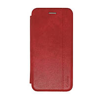 Чехол книжка для Xiaomi Redmi 6a Leather Gelius Red