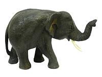 Слон тиковый идущий, хобот вверх 20 см.(ст-24)