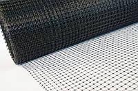 Сетка пластиковая 0.5м х100м (ячейка 30*35мм) чёрная, фото 1