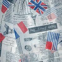 Тюль под натуральную матовая газета