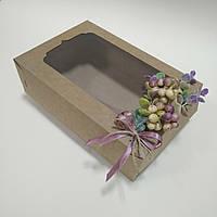 "Коробка  крафт 250х170х80 мм """"Эвкалипт с ягодами глода"""", фото 1"