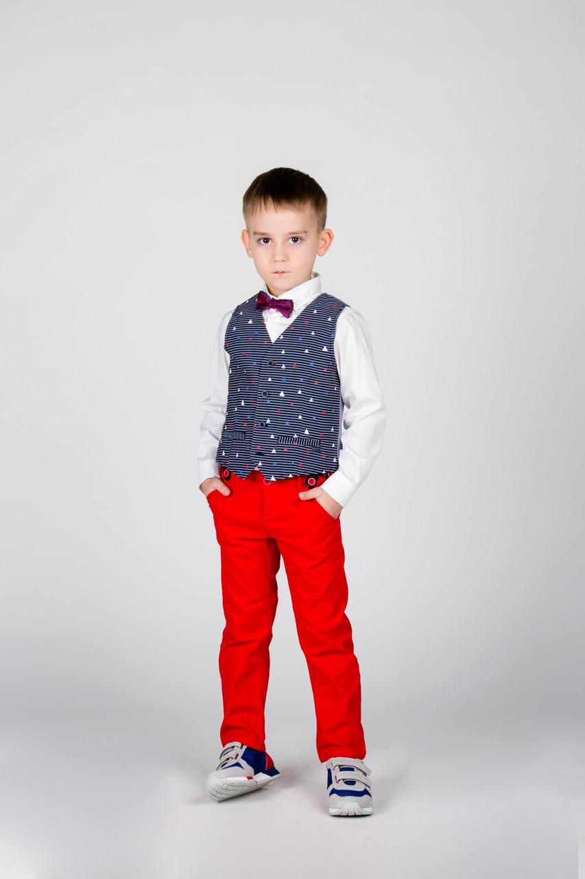 Детские брюки для мальчика MEK Италия 191MDBH001 синий