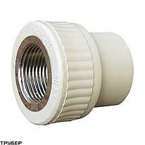 """Муфта  20 мм на 1/2"""" ВР «VS Plast» полипропиленовая с внутренней резьбой"""