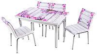 Стол раздвижной обеденный 1007 Lavanta,набор, кухонный стол и 4 стула.