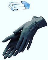 Черные нитриловые перчатки повышенной прочности ( размер XS, S, M) Медиком 50 пар
