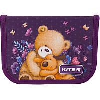 Пенал с наполнением Kite Education Popcorn the Bear PO19-622H, 1 отделение, 2 отворота