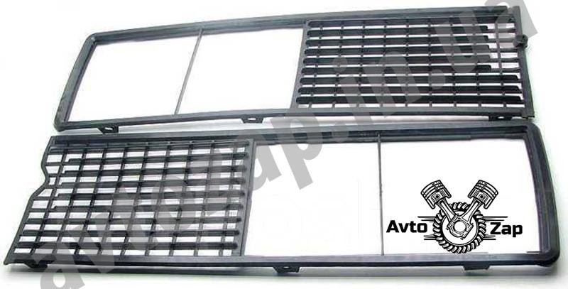 Решетка 2106 радиатора черная (2 ч.)