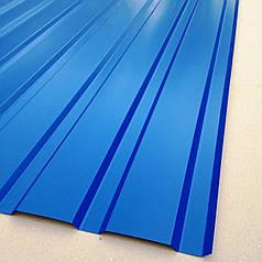 Профнастил для забору, колір: Синій ПС-20, 0,3-0,35 мм; висота 2,0 метра ширина 1,16 м