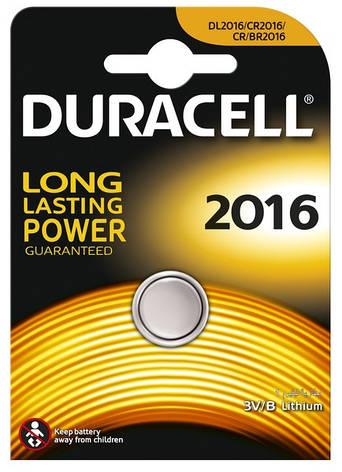 Батарейка DURACELL DL2016 1шт., фото 2