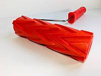 Валик структурный резиновый 60х180мм (красный)