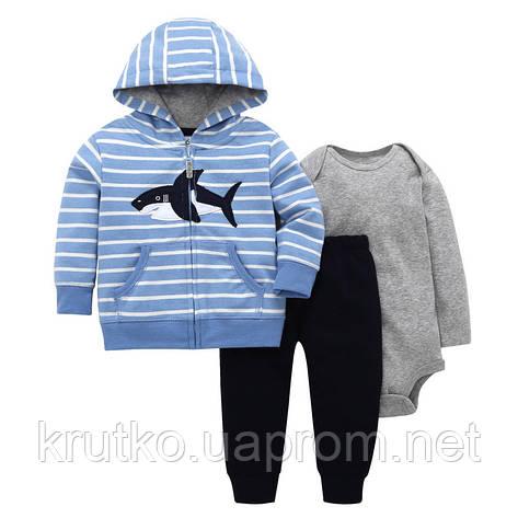 Комплект для мальчика 3 в 1 Акула Berni, фото 2