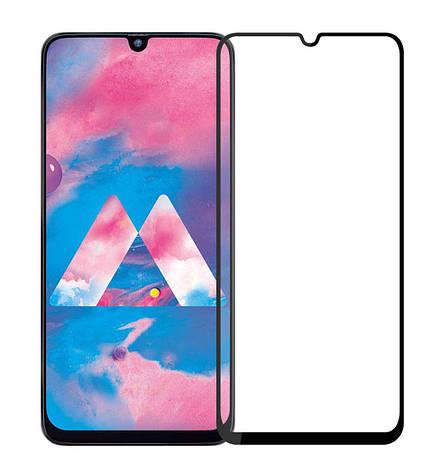 Защитное стекло NZY для Samsung Galaxy M30 Full Glue Черные рамки (999910), фото 2