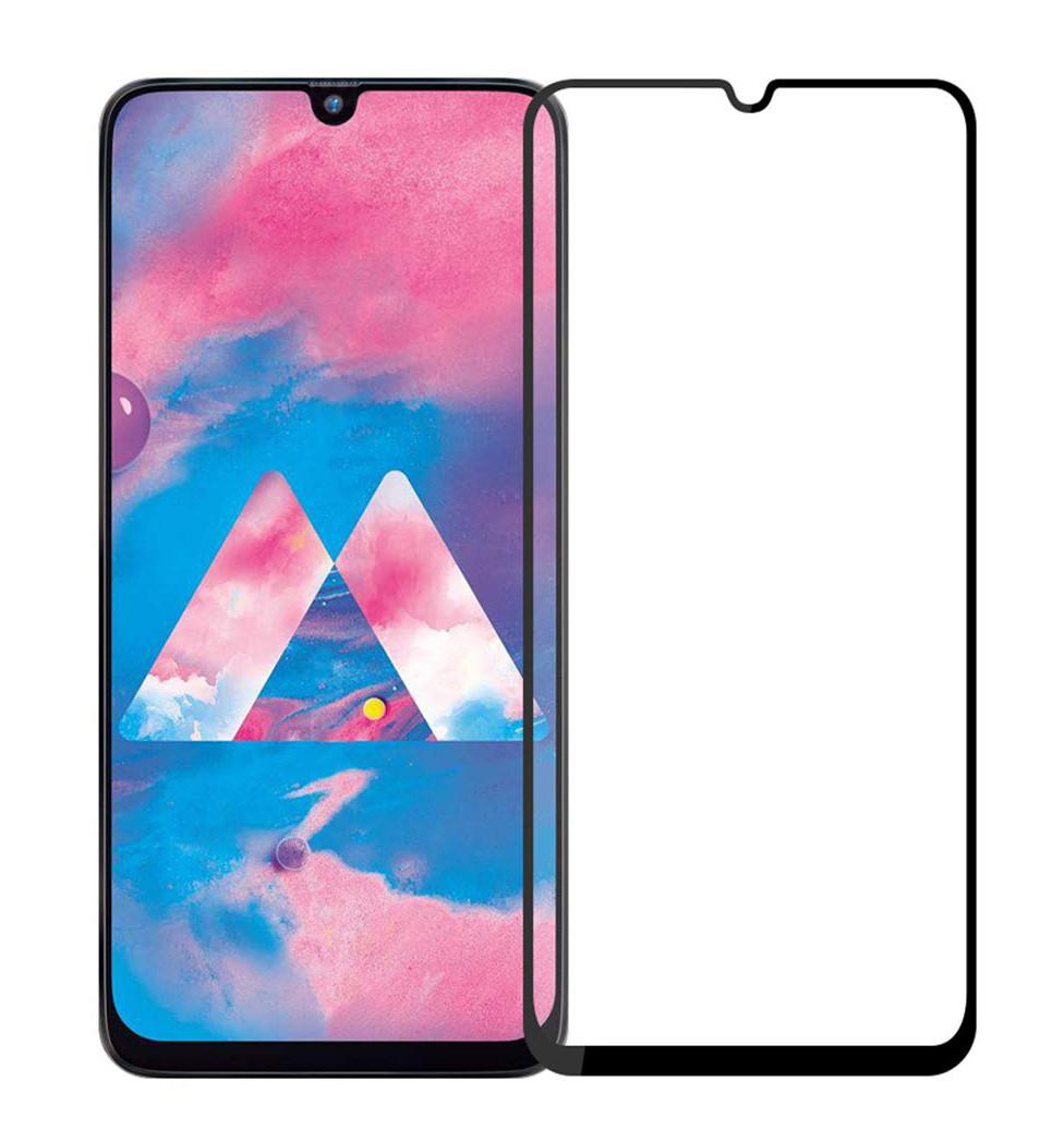 Защитное стекло NZY для Samsung Galaxy M30 Full Glue Черные рамки (999910)