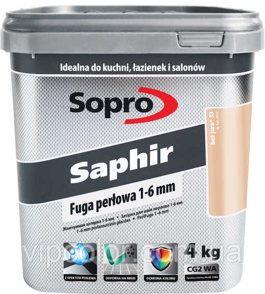 Sopro Saphir Белый 10 затирочный раствор 1-6 mm 4 кг