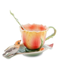 """Фарфоровая чайная пара """"Тюльпаны"""" (Pavone) FM-83/ 5"""