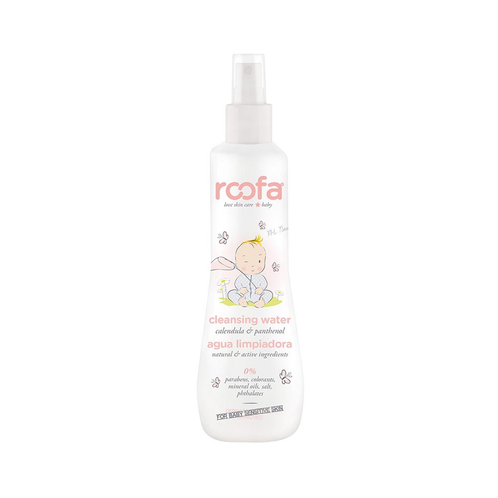 Очищувальна вода для обличчя та тіла з календулою і пантенолом ROOFA