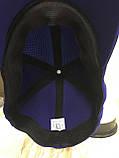 Бейсболка из трикотажного полотна размер 56-58 цвет ярко-синий, фото 3