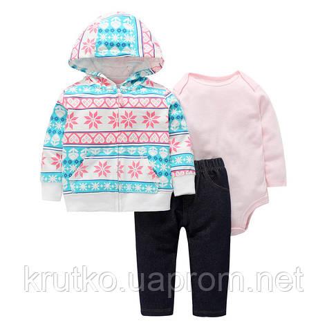 Комплект для девочки 3 в 1 Снежинка Berni, фото 2