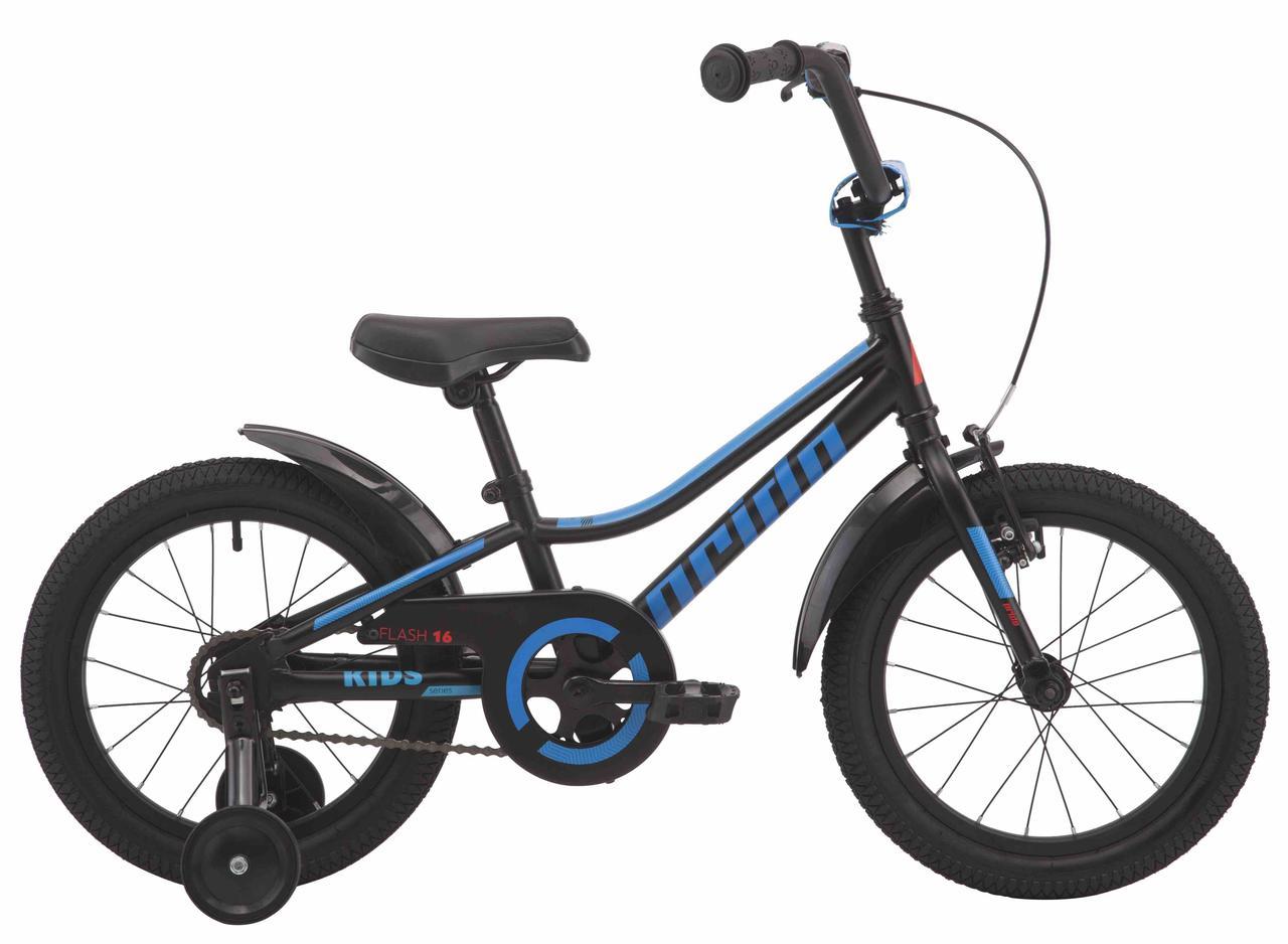 "Велосипед 16"" Pride FLASH 16 чорний 2019"