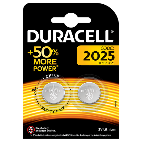 Батарейка DURACELL DL2025 DSN 2шт, фото 2