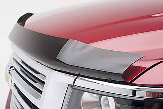 Дефлектор капота для Mitsubishi ASX (широкий) (темный) (2010-2013) (SIM)