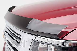 Дефлектор капота для Nissan X-Trail (темный) (с надписью) (2007>) (SIM)