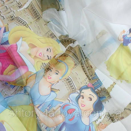 Тюль вуаль принт принцессы