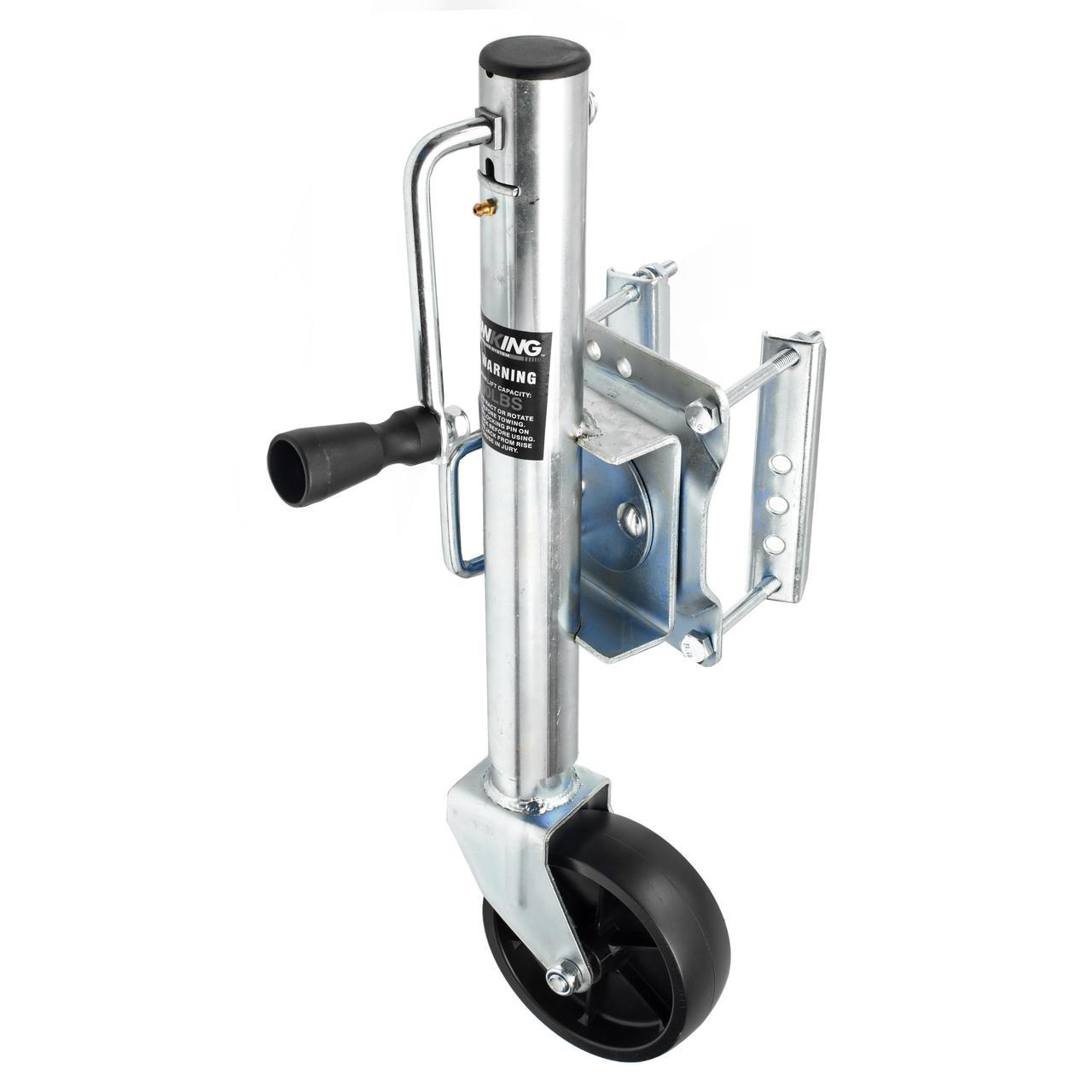 Маневровое опорное колесо для прицепа с поворотной пластиной (до 350кг)