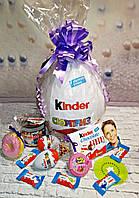 Подарочная коробка Большой киндер-сюрприз с киндерами и ореховой пастой