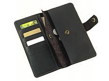 Кожаный мужской кошелек купюрник GS коричневый