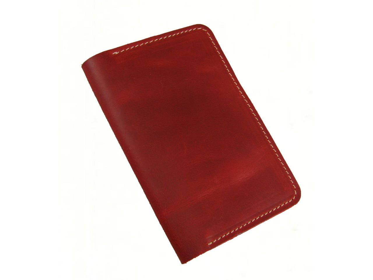 Обложка для паспорта GS кожаная красная
